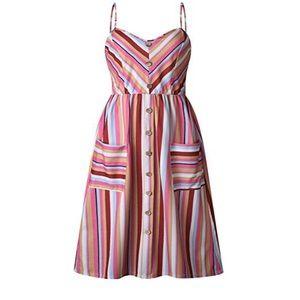 Dresses & Skirts - Striped Bandeau Dress
